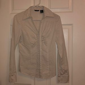 Maurices white blouse long sleeve